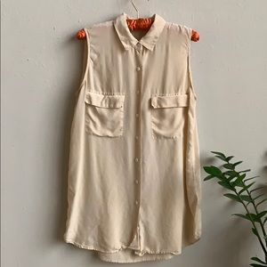 🦋 Equipment Silk Sleeveless Blouse Dress